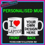 I LOVE HEART MY LAPTOP PC COFFEE MUG GIFT